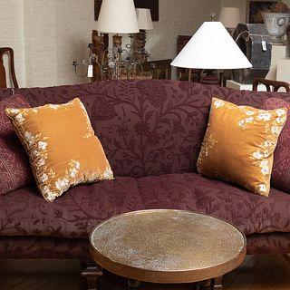 Pair of Large Dransfeild & Ross Velvet Beaded Pillows