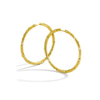 Mish Twig Hoops, 18k Gold & Diamond