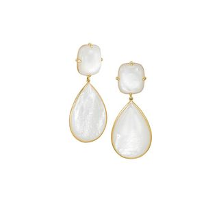 Mish Roadster Earclips,18k Gold & Mother of Pearl