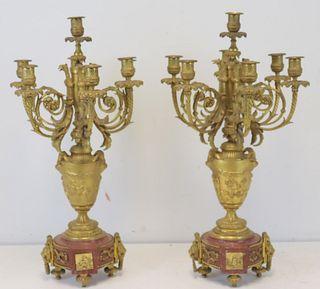 A Pair Of Fine Quality Gilt Bronze Urn Form