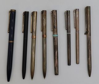 Assorted grouping of Tiffany & Co. T-clip pens.