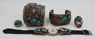 JEWELRY. Assorted Bear Claw and Turquoise Jewelry.