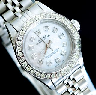 Rolex Oyster Perpetual Diamond Watch