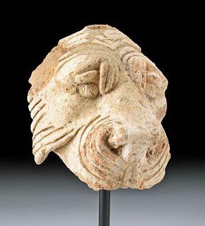 Eastern Roman Terracotta Head of a Lion