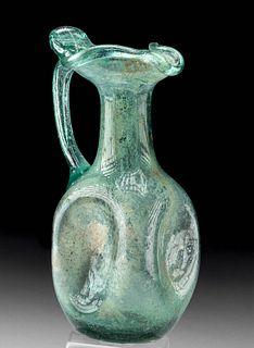 Roman Glass Oinochoe Dimpled Body