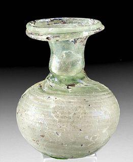 Roman Glass Sprinkler Flask Incised Surface