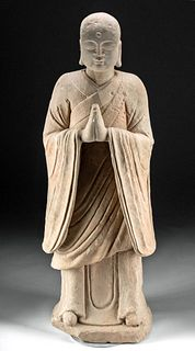 Huge 19th C. Chinese Sandstone  Bodhisattva