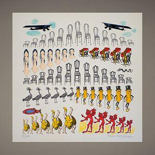 """Pedro Friedeberg. Colonia Roma. Serigrafía 75 / 100 - Rare """"Colonia Roma"""" silkscreen"""