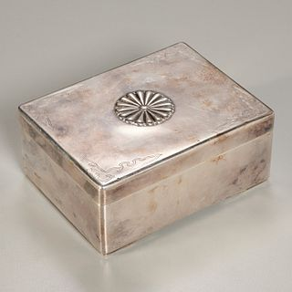 Japanese Imperial silver presentation box