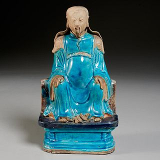 Chinese fahua seated official figure