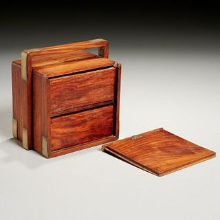 Small Chinese huanghuali carrying box