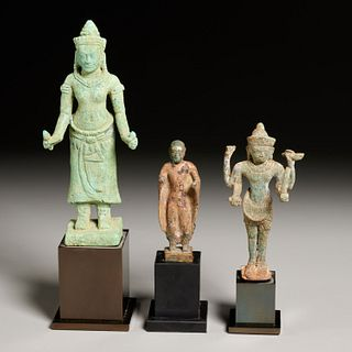 (3) Southeast Asian Khmer (style) bronze figures