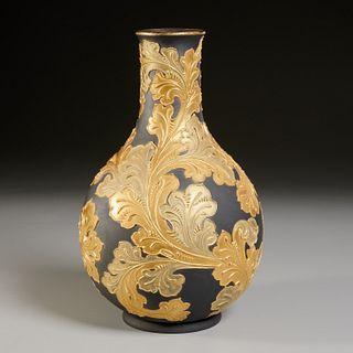 Rare Wedgwood Auro Basalt Vase