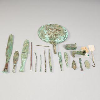 Ancient Roman bronze tools & fragments, ex. museum