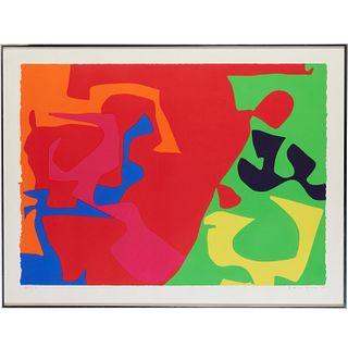 Patrick Heron, color screenprint, 1973