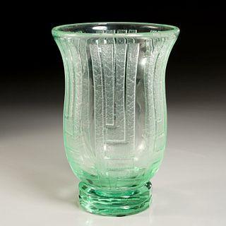 Large Daum Art Deco glass vase