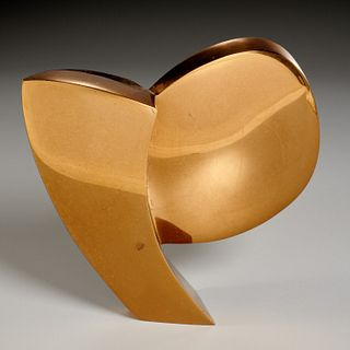 Leslie Thornton, bronze sculpture, 1974