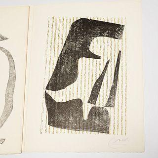 Joan Miro, signed woodcut print, 1971