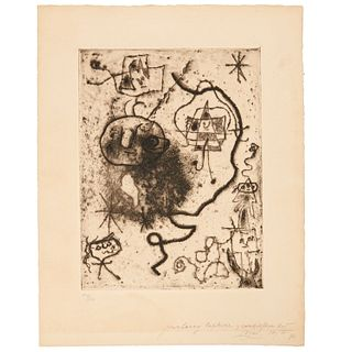 Joan Miro, signed etching