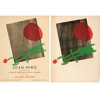 Miro, Galerie Cramer lithograph poster and print