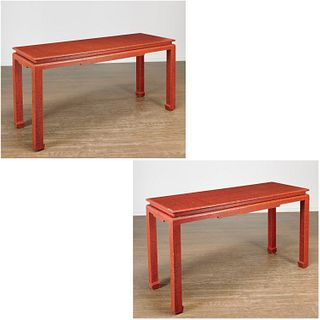 Daniel Romualdez, custom lacquered console tables