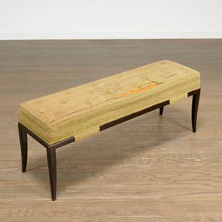 Tommi Parzinger upholstered bench