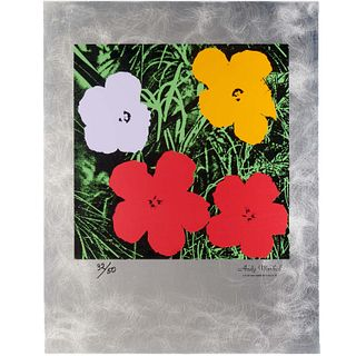 Andy Warhol, silkscreen on etched aluminum, 1994