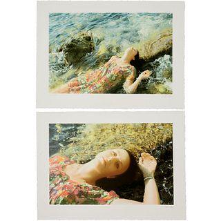 Yigal Ozeri, pair of silkscreen prints