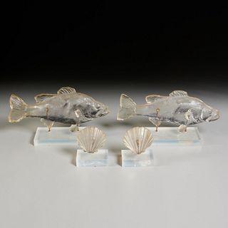 Dorothy Thorpe style cast acrylic fish & shells