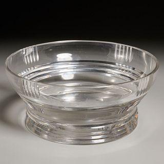Jean Sala for St. Louis Art Deco crystal bowl