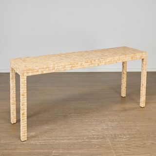 Garrison Rousseau, coconut tiled console table