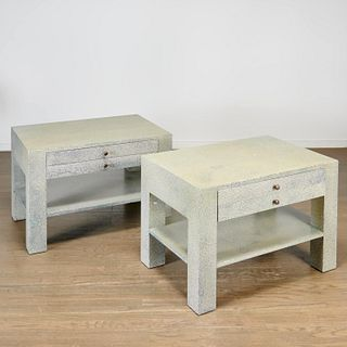 Juan Pablo Molyneux, faux shagreen nightstands