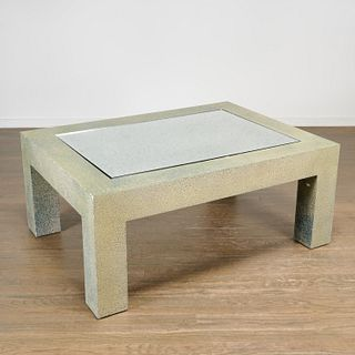 Juan Pablo Molyneux, faux shagreen coffee table