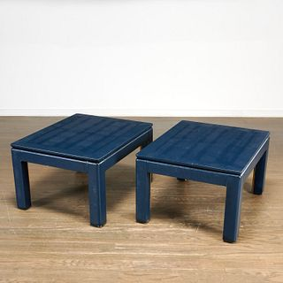 Daniel Romualdez, pair custom side tables