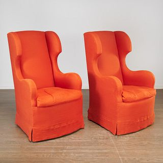 Daniel Romualdez, custom tall wingback chairs