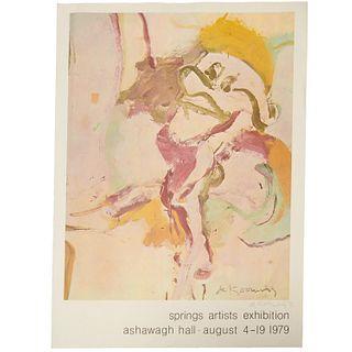 Willem de Kooning, signed exhibition poster, 1979