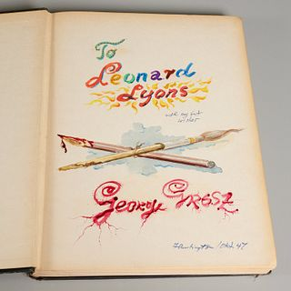 George Grosz, Autobiography, signed original art