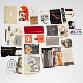 Collection of UBU Gallery invites, incl. Yoko Ono