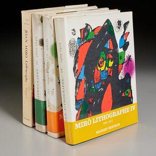 Joan Miro Lithographs, Vols I, II, III and IV