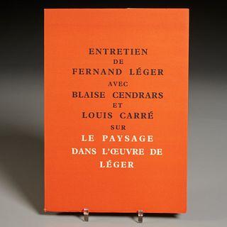 Entretien de Fernand Leger..., Louis Carre, 1956