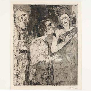 Emil Nolde, drypoint etching, 1918
