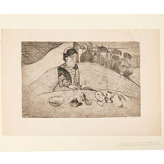 Paul Gauguin, soft-ground etching, 1894