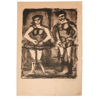 Georges Rouault, two lithographs
