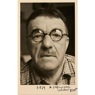 Fernand Leger, self portrait photograph, 1939