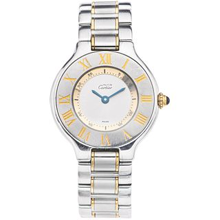 CARTIER MUST DE CARTIER SIGLO 21 LADY. STEEL AND PLATE. REF. 1340
