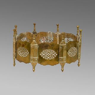 Middle Eastern Islamic Syrian Brass Mangal, Brazier.