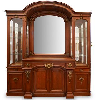 Monumental 19th Cent. Oak Wood Cabinet Display
