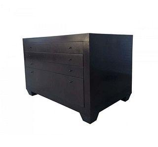 Stunning Four-Drawer Dresser in Dark Walnut Finish