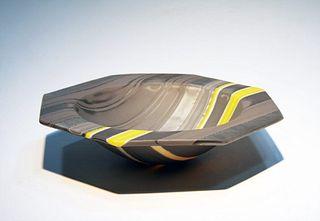 Octagonal Bowl Form by Klaus Moje