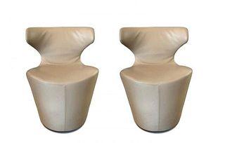 Mini Papilio Leather Chairs by Naoto Fukasawa for B&B